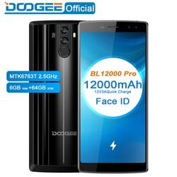 Doogee bl12000 pro 12000 mah smartphone mtk6763t 6.0 18 18 18: 9 fhd + 2.5 ghz 6 gb ram 64 gb rom quad camera 16.0 + 13.0 mp android 7.1