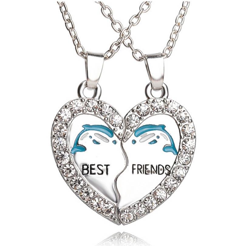 Best Friends Forever Pendant Charm Necklace