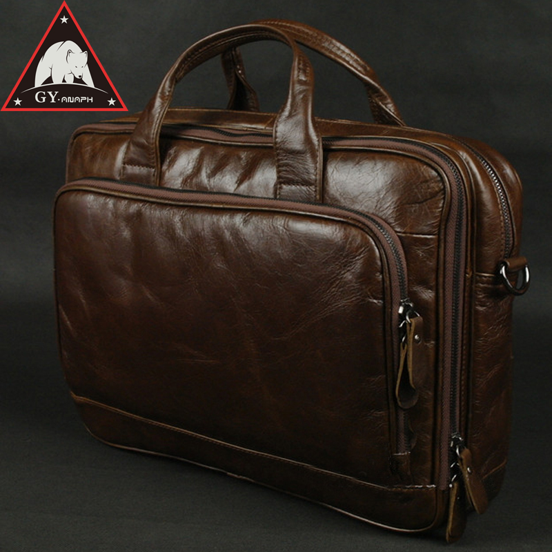 все цены на ANAPH 15 Inch Laptop Bag Men's Leather Briefcase Documents Office Bags For Men Large Capacity Double Zips High Quality Coffee