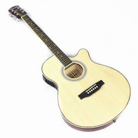 Diduo 40 Inch High Quality Acoustic Folk Guitar Rosewood Fingerboard Guitarra With 6 Strings Ultra Thin