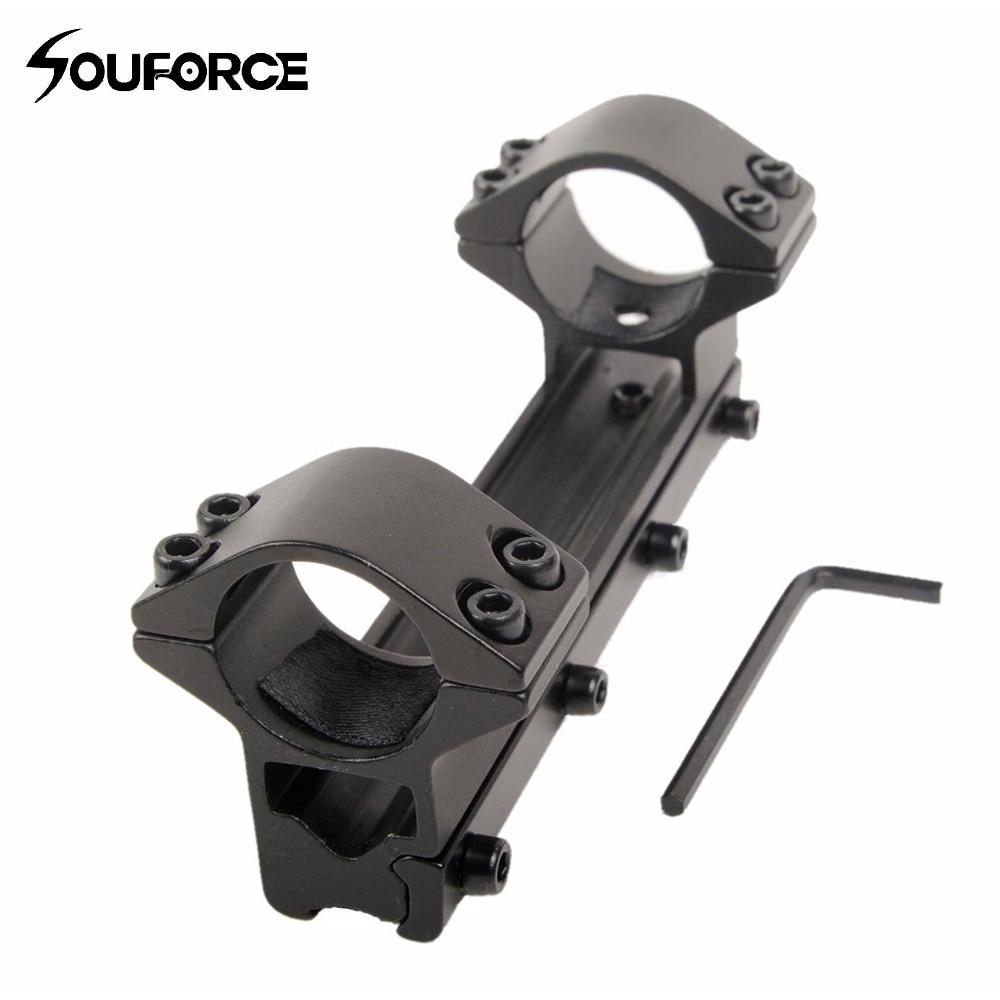 Caza 25.4mm doble alcance tubo superior Soporte para cola de milano 11mm Rail para rifle scope envío gratis M
