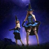 Halloween Trang Phục Cosplay Phụ Nữ Phù Thủy Đen Mũ Phù Thủy Tình Yêu Phù Hợp Với Đồng Phục Cám Dỗ Cho Đảng & Halloween &, Ngày Hội thể 2017 Mới