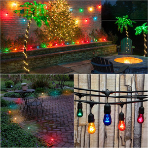 Image 5 - IP65 15M Commercial Grade LED S14 String Light Bulb LED Multicolor Light String For Outdoor Wedding Lighting Holiday Event Party