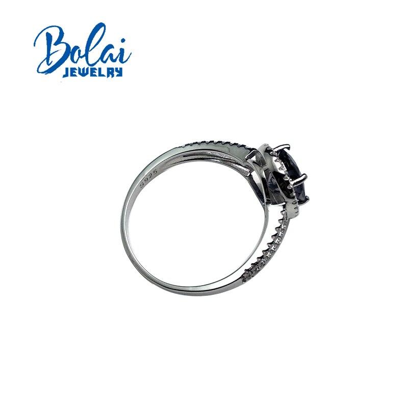 Bolaijewelry 、ナチュラルアイオライトラウンドルースビーズオーバル 7*9 ミリメートル宝石シンプルリング 925 スターリングシルバー女性のための日常着 & パーティーギフト  グループ上の ジュエリー & アクセサリー からの 指輪 の中 2