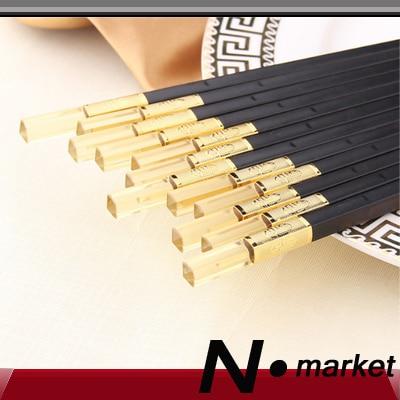 New So Beautiful Amber Chopsticks 10 pair /lot China town Style Hotel & Resturant High 27cm Black Chopsticks Gift Set