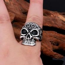 Silver Skull Head Viking Rings