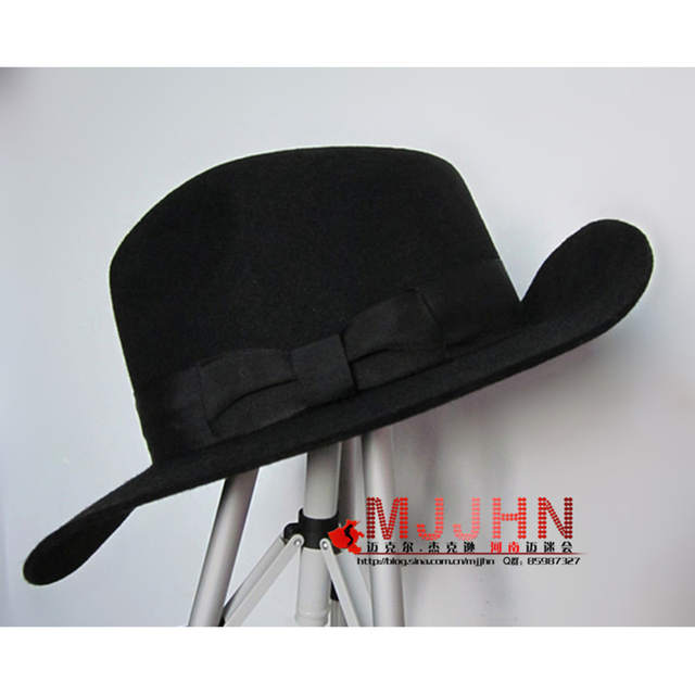 a596e1dce US $39.99 |Hig Q MJ Michael Jackson Billie Jean With Name Black FEDORA Wool  Hat Trilby Collection For Performance Party Show Imitation Gift-in Men's ...