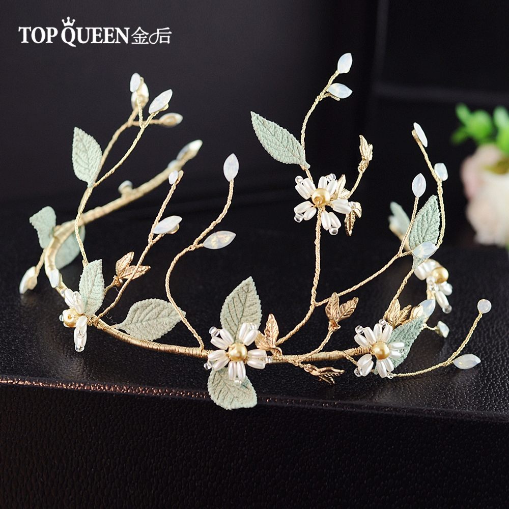 TOPQUEEN HP203 Wedding Woman Headwear Wedding Accessories  Wedding Hair Accessories For Women Elegant Bridal Headdresses