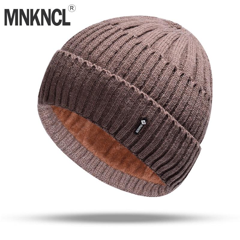 MNKNCL Balaclava Wool Knitted Hat Warmer Winter Hat For Men Women Skullies Beanies Warm Fleece Caps