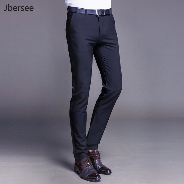 494a7d785f3 Men Dress Pants Formal Pants Slim Fit Suit Pants Business Casual Wedding  Men Black Orange Mens Trousers Linen Summer Suit Pants