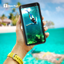 Hot sale Original Waterproof Case Cover for Samsung S8 Plus Outdoor Summer Swimming Shockproof Cases Galaxy
