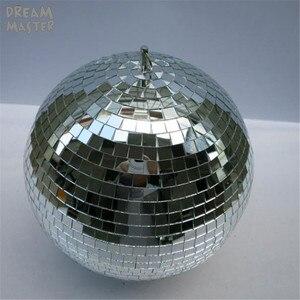 Image 1 - Вращающийся стеклянный зеркальный шар диаметром 30 см, Рождественская Праздничная лампа 12 дюймов с вращающимся двигателем, светоотражающие подвесные декоративные шары для магазина