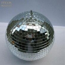 """D30cm średnica szklana obrotowa kula lustrzana 12 """"świąteczne oświetlenie na imprezę W/obrót silnika odblaskowe wiszące sklep wystrój sklepu piłki"""