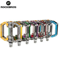 ROCKBROS Ultralight Aluminum Alloy Cycling Bike Pedals Mountain Road Bike Parts Bearing Pedal Bicycle Accessories Riding