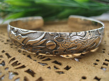 Tai Zhengyin S925 silver silver bracelet and opening characteristics of traditional folk style silver jewelry female