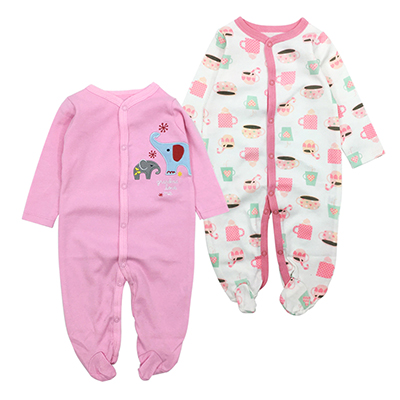 2-Pieces Baby Girls Sets Full Sleeve O-Neck Baby Girls Suits 100% Cotton Baby Clothing Children Sets