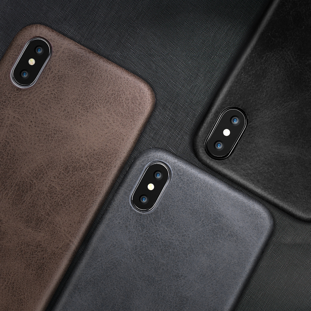 Ultra Thin Phone Cases For iPhone 6S 6 7 8 Plus XS Max Cover Leather Skin Soft TPU Silicone Case For iPhone XR X Shell