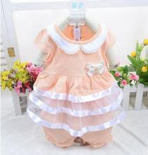 2017 Korean children clothing summer infant princess dress baby girl short sleeve clothes baby set XC1164