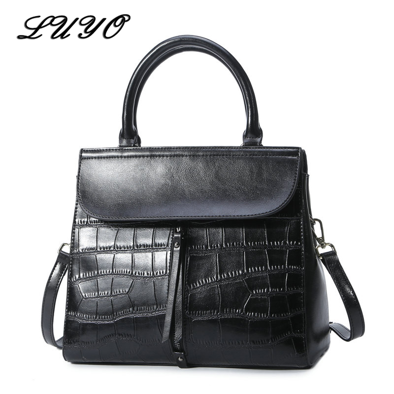 Luyo Genuine Leather Women Designer Handbags High Quality Female Shoulder Tote Bag Fashion Ladies Totes Crossbody Bags For Women 2017 women handbags ladies leather commuter office tote bag high quality women bag