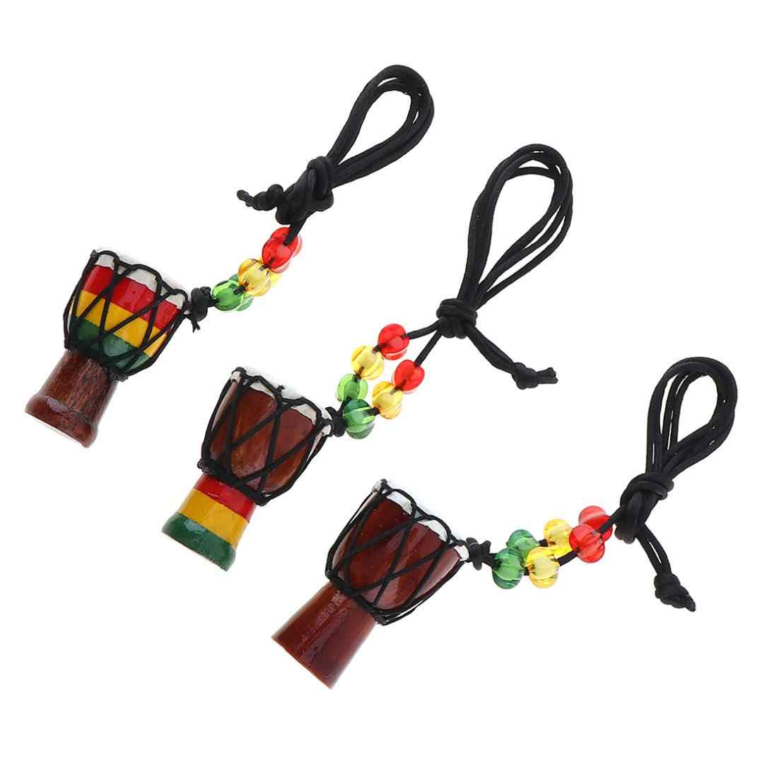 1pcs Mini Jambe Drummer Individuality Djembe Pendant Percussion Musical Instrument Necklace African Hand Drum Accessories