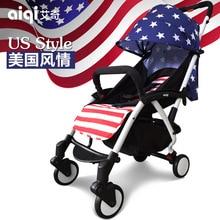 Aiqi Baby Stroller Super Light Umbrella cart Can Lie and Sit Children s Trolley