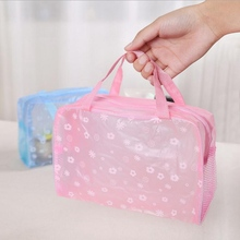 Transparent Travel Storage Bag Accessories Waterproof Handcuffs Makeup Bath Portable Washing Bags Organizer