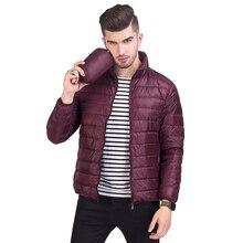 Новые мужские зимние куртки ультра светильник 90% белый утиный пух куртки повседневные водонепроницаемые портативные пуховики для мужчин теплая верхняя одежда