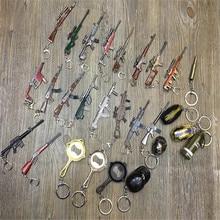 BOOCRE PUBG брелок с картинкой PLAYERUNKNOWN боя костюмы оружие панцири металлическая игрушка модель брелок
