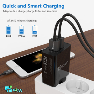 Image 4 - TIEGEM 30W Fast Quick Charge 3.0+2.4A Dual USB Universal Mobile Phone Charger Portable EU US Plug for Samsung Huawei Xiaomi LG