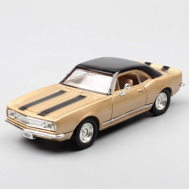 1/43 escala mini vintage 1967 chevrolet camaro z28 chevy corrida muscle carro diecast & veículos modelo de brinquedo miniaturas coletor