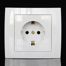 Eu Outlet German standard wall power outlet safety single socket CE certified ABS material 90*82mm specification YW002
