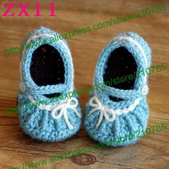 Free shipping 10pairs / lot handmade mini shoes, newborn crochet handmade baby animal shapes Rabbit