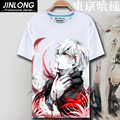 Токио вурдалак цифровой печатный горячая аниме токио вурдалак майка одежды кен Kaneki с коротким рукавом токио вурдалак футболки мужчин tshirt