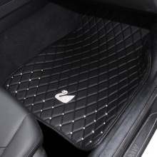 Anti Slip Swan Crystal Car Floor Mats Carpet for Woman Girl