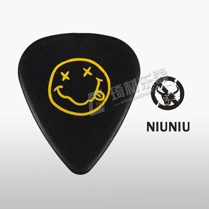 Nirvana Clown Face Guitar Pick Plectrum Mediator 1.0mm, Standard Shape, 1/piece 3m adhesive tape bicycle helmet mount for 1 4 camera black