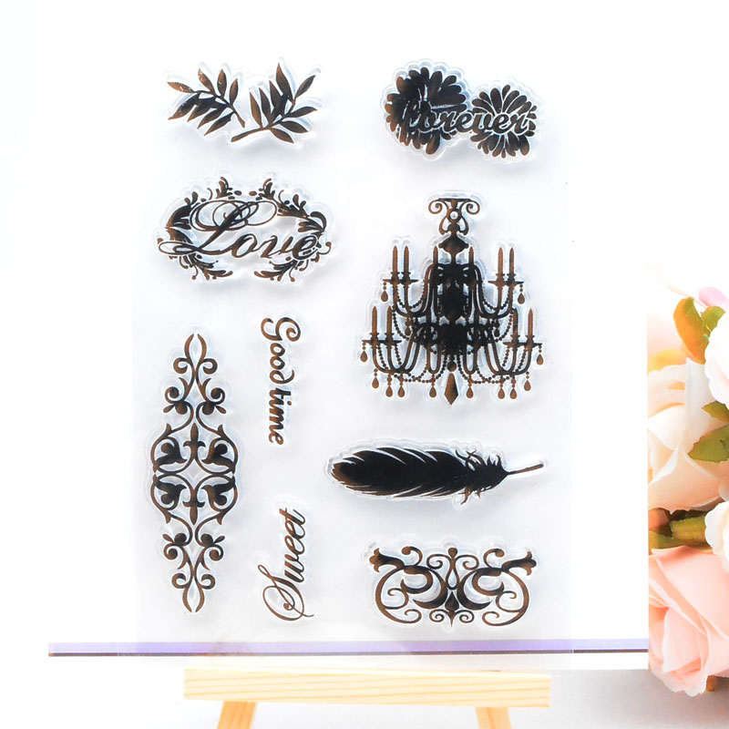 DECORA 1PCS Butterfly Banner Design Silicone Transparent Clear Stamp DIY Scrapbooking Christmas Decoration Supplies