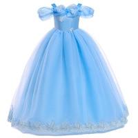Платье Золушки для девочек детская одежда платье принцессы Софии для вечерние свадебное платье, детское платье из ткани в сеточку, костюм, п...