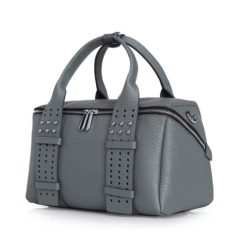 ФОТО Boston bag women fashion design boston handbag cow split leather European and American Style female handbag shoulder bag