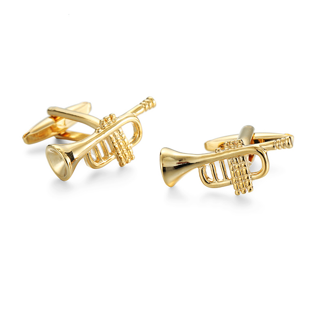 High Novelty Music Design Cufflinks Guitar Piano Violin Cuff Buttons Man's French Shirt Jewelry