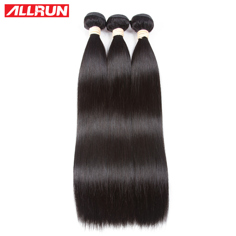 ALLRUN 1/3/4 Bundles Deal Malaysia Hair Weave Straight Human Hair Bundles Natura