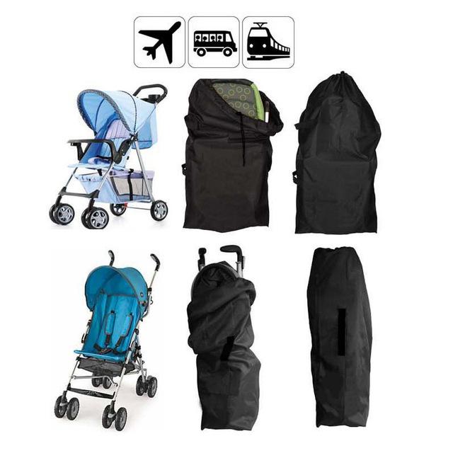 Cochecito de bebé Cubierta de la Bolsa de Accesorios Bolsa de Viaje Cochecitos de Bebé Cochecito Negro para Avión Tren Coche 2 Tamaño 1 UNID