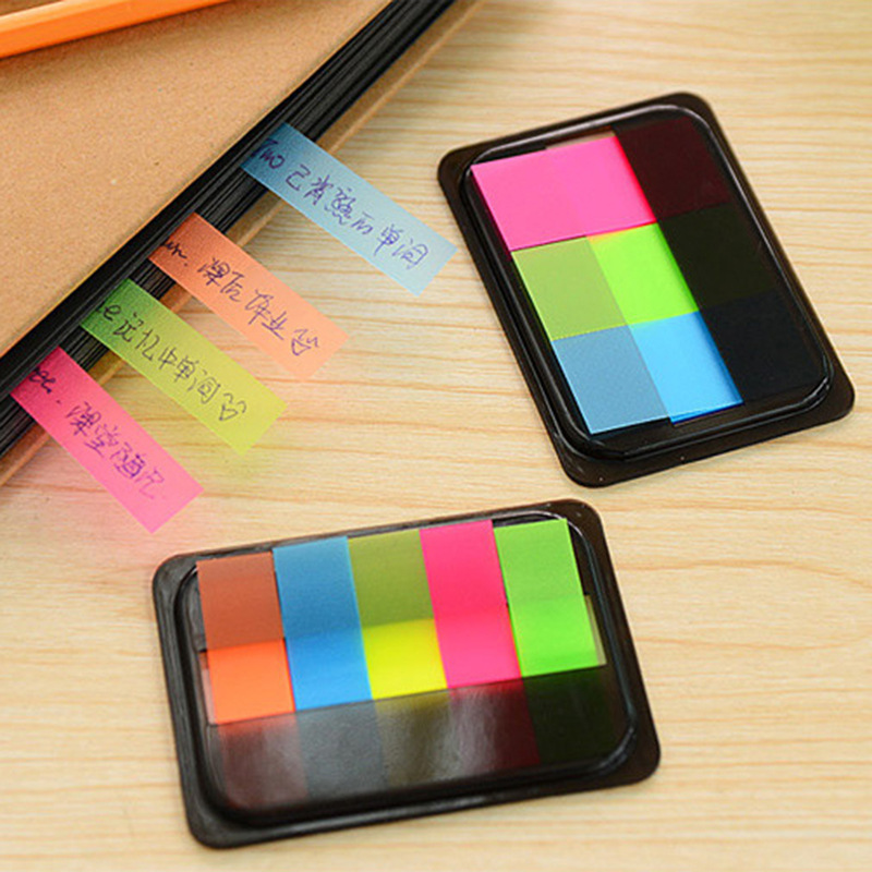 1Pack New PET Rainbow Colorful Mini Memo Pad N Times Sticky Notes School Supply Bookmark Post it Label Gift E0346