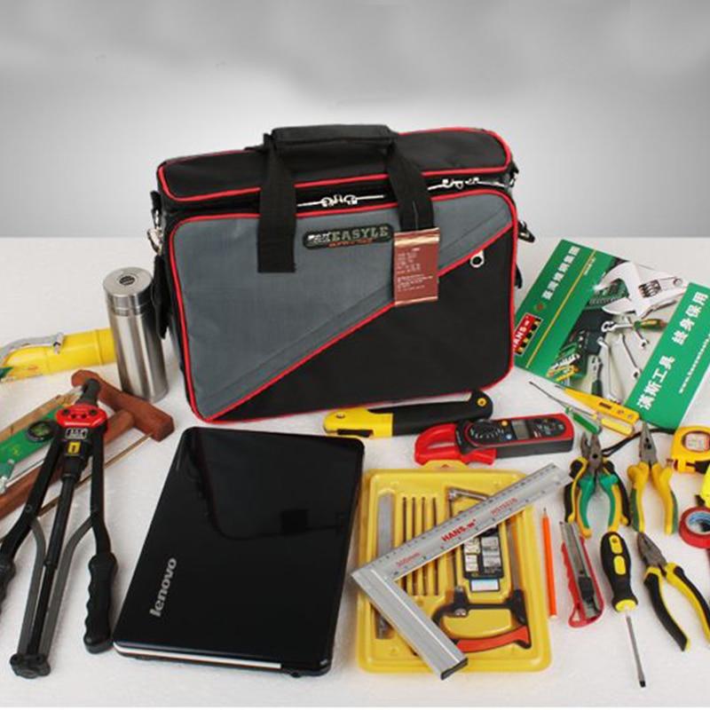 Multi-functional Electrical Oxford Fabric Tools Shoulder Bag Household Repair Hardware kit laptop bag thickening hardware multifunctional electrical repair kit one shoulder canvas bag tool bag db005