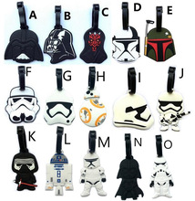 Classic Lovely Cartoon film Star Wars Stormtrooper & Black Knight Suitcase PVC luggage tags Travel Name Tag