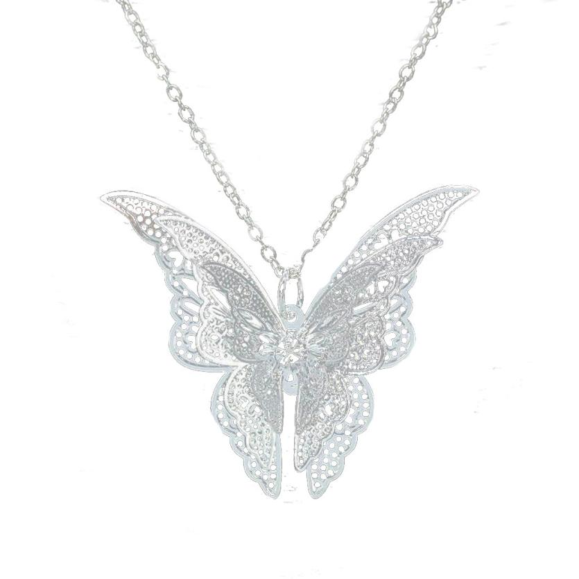 snowshine YLWX Women Lovely Butterfly Pendant Chain Necklace Jewelry free shipping