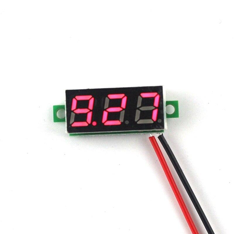 20PCS/LOT Drop shipping DC 3.5-30V Car Volt Voltage Panel Meter New 0.28 Super Mini Digital Red Led Display Voltmeter B0003-20