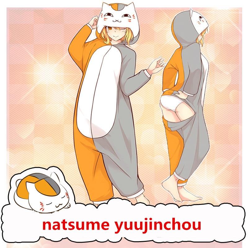 Cartoon Anime Natsume Yuujinchou Madara Cosplay Costumes Unisex Women Girls Cotton Pajamas Bathrobe Jumpsuits Suit