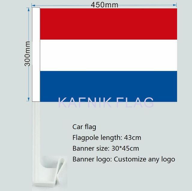 kafnik 30x45c dutch flag netherlands dutch car window flag pole car