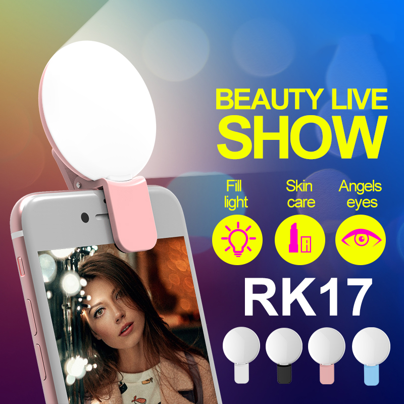RK17 reîncărcabilă MINI LED-uri Selfie Flash lumina portabile LED - Camera și fotografia