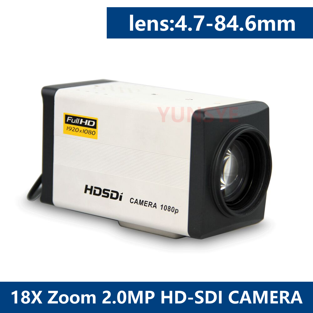 1080P HD SDI Camera with manual18X Zoom Lens4.7-84.6mm 2.1Megapixel Sony CCD,1080P30&720p,Used For Traffic Cashier Bank Campus 12x zoom camera lens telescope for samsung galaxy s5 silver